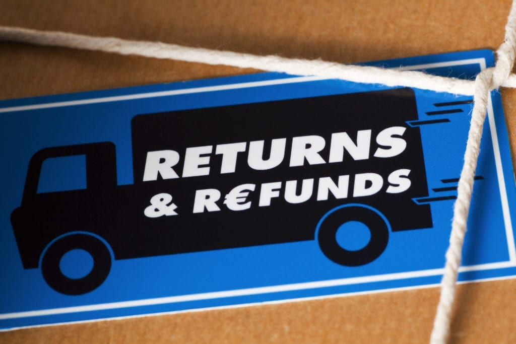 Returns and Refunds Package Euro Currency
